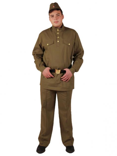 Военный костюм Солдат с прямыми брюками взрослый (хлопок), Вестифика, р. 52-54