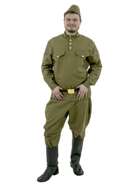 Солдат с брюками-галифе на взрослого (хлопок), Вестифика, р. 52-54