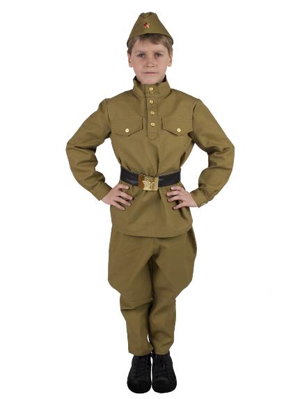 Костюм Солдат с брюками-галифе подростковый (саржа), Вестифика, р. 140-146