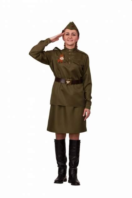 Карнавальный костюм взрослая Солдатка с орденом (текстиль), Батик, р.46
