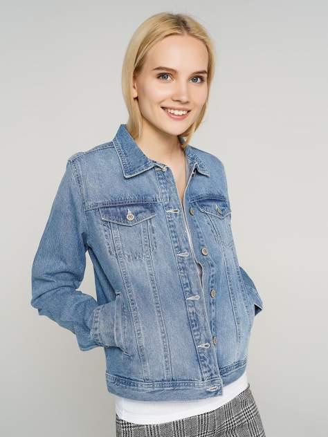 Джинсовая куртка женская ТВОЕ A6594 голубая XL