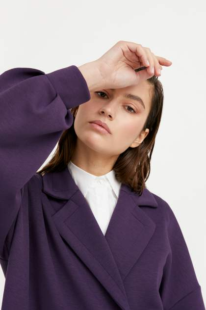 Плащ женский Finn Flare B21-11033 фиолетовый 2XL