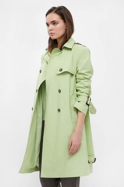 Тренч женский Finn Flare B21-11061 зеленый L