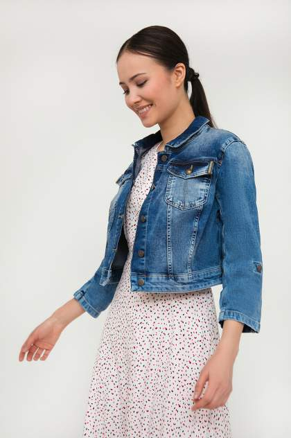 Женская джинсовая куртка Finn Flare S20-15003, синий