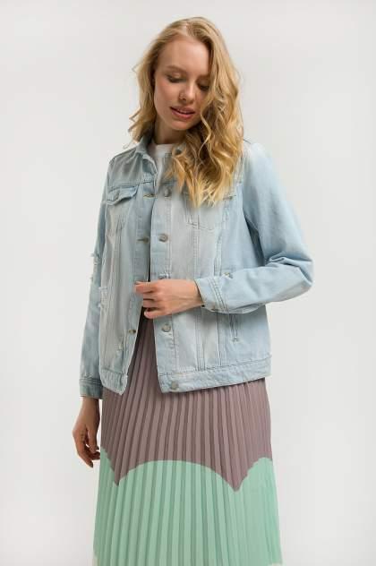 Женская джинсовая куртка Finn Flare S20-15004, голубой
