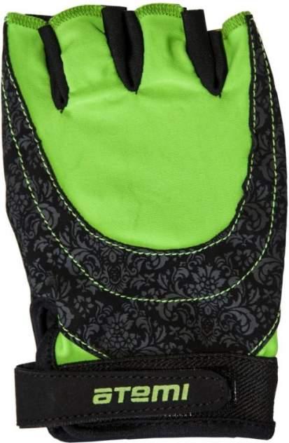 Перчатки для фитнеса Atemi, черно-зеленые, AFG06GN (L)