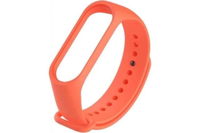 Силиконовый ремешок для Xiaomi Mi Band 3/4, оранжевый