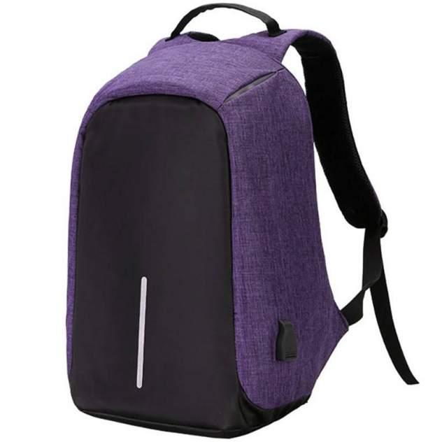 Рюкзак для ноутбука унисекс Baziator  фиолетовый/черный