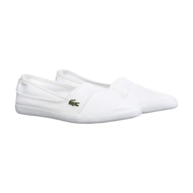 Слипоны женские Lacoste Marice BL 2 белые 36 RU