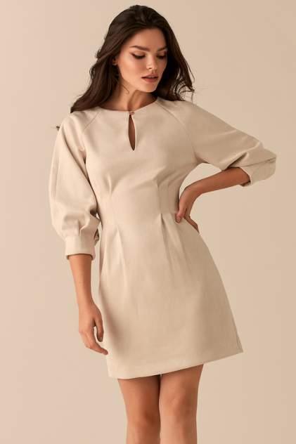 Повседневное платье женское LOVE REPUBLIC 450116528 бежевое 42