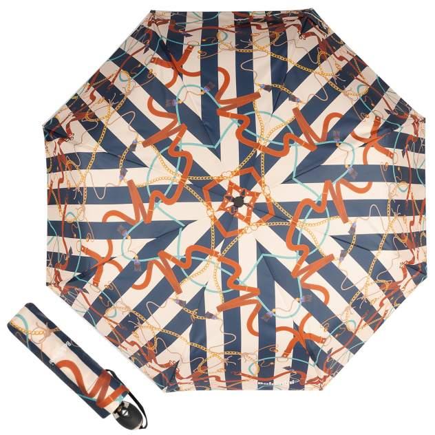 Зонт складной женский автоматический Baldinini 50-OC бежевый/синий