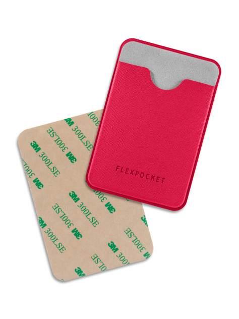 Чехол для карты/пропуска Flexpocket POL-7ES красный