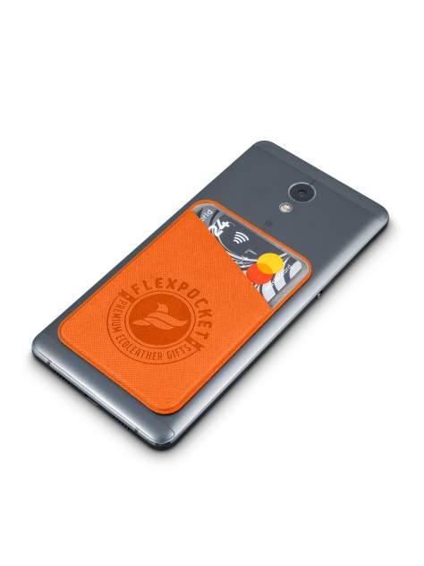 Чехол для карты/пропуска Flexpocket POL-7ES оранжевый