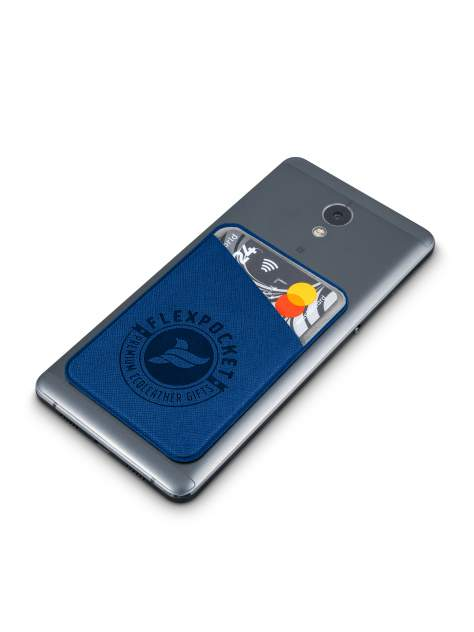 Чехол для карты/пропуска Flexpocket POL-7ES темно-синий