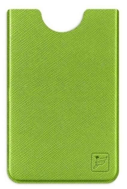 Чехол для пластиковой карты из экокожи с RFID блокировкой Flexpocket зеленый