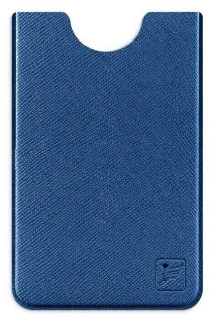 Чехол для пластиковой карты из экокожи с RFID блокировкой Flexpocket синий