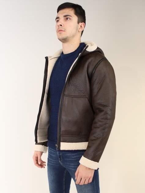 Кожаная куртка мужская CENSURED SQ65131 коричневая L