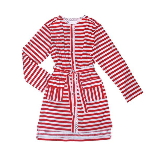 Платье-рубашка в полоску Bon&Bon 383 р.122