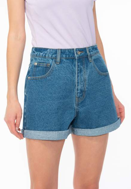 Джинсовые шорты женские Modis M201D00351 синие 42 RU