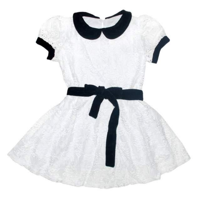Платье Из Гипюра И Бархата Bon&bon 655 Белое р.122