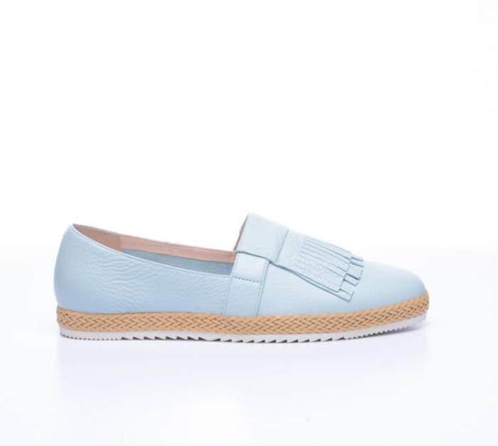 Слипоны женские, Basconi 70020B-YP, голубой