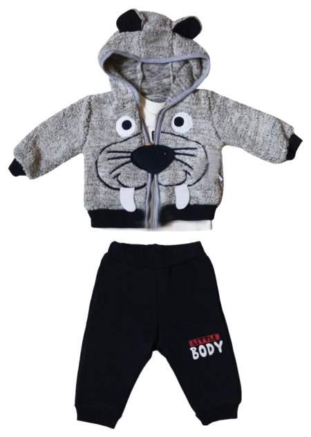 Комплект одежды BEBOO, цв. серый, бежевый, синий