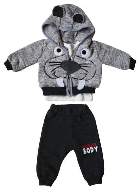Комплект одежды BEBOO, цв. серый, бежевый, черный