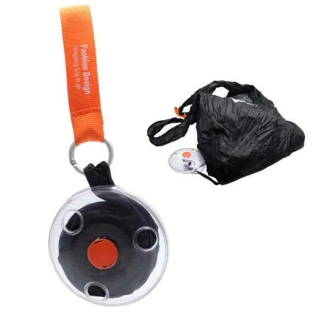 Компактная сумка на плечо / сумка брелок ROLL UP / цвет черный