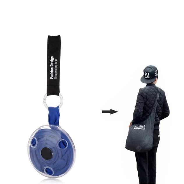 Компактная сумка на плечо / сумка брелок ROLL UP / цвет синий