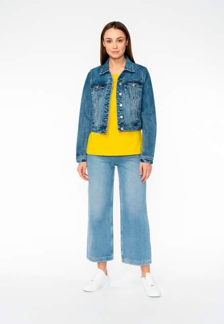 Джинсовая куртка женская Modis M201D00284 синяя 42 RU