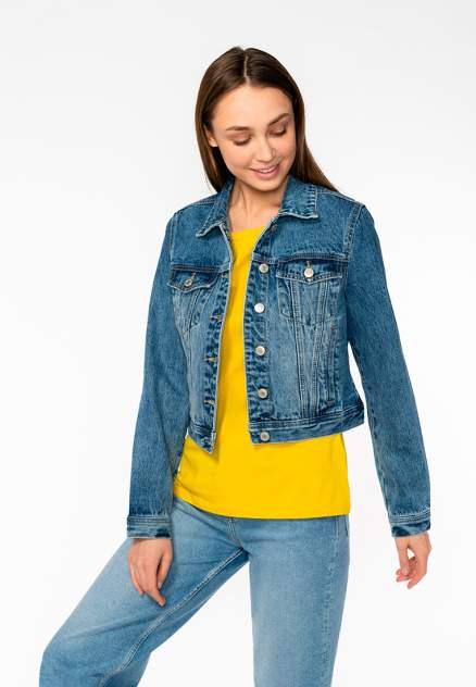Джинсовая куртка женская Modis M201D00284 синяя 48 RU