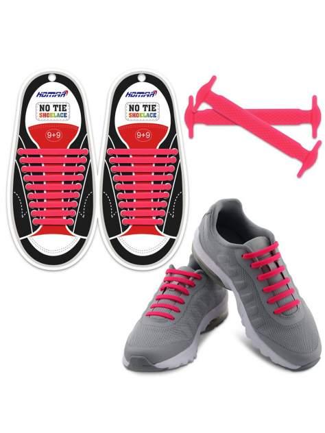 Шнурки для обуви Lumo силиконовые LM-SLS-09 розовые