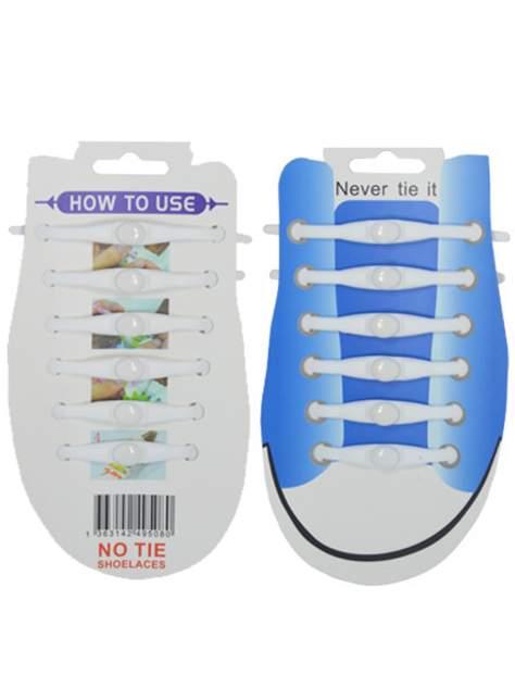 Шнурки для обуви Lumo силиконовые LM-SL-06 белые