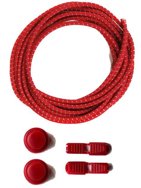 Шнурки для обуви Lumo LM-LL-04 эластичные с фиксатором красные