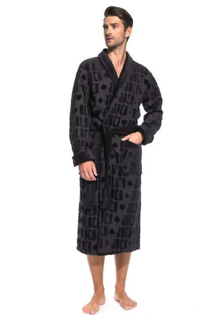 Стильный махровый халат Black Jack (PM France 937), цвет черный, размер XL (50-52)
