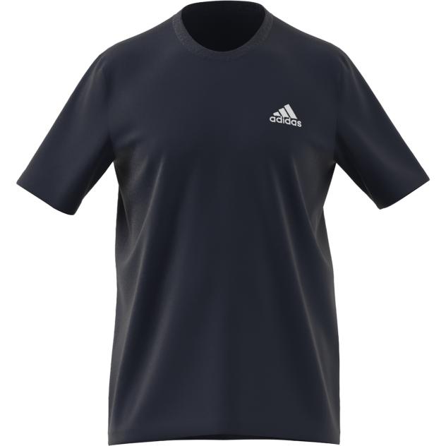 Футболка мужская Adidas Essentials Embroidered Small Logo Tee синяя XL INT