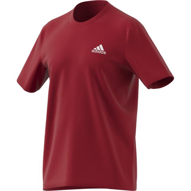 Футболка Adidas Essentials Embroidered Small Logo Tee, красный