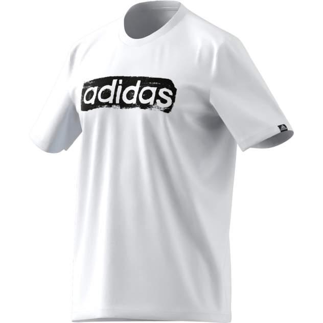 Футболка мужская Adidas Remera Brushstroke Logo Box Estampada белая XL INT