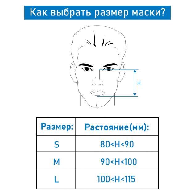 Многоразовая защитная маска Nuobi NPMNW1M серая 1 шт.