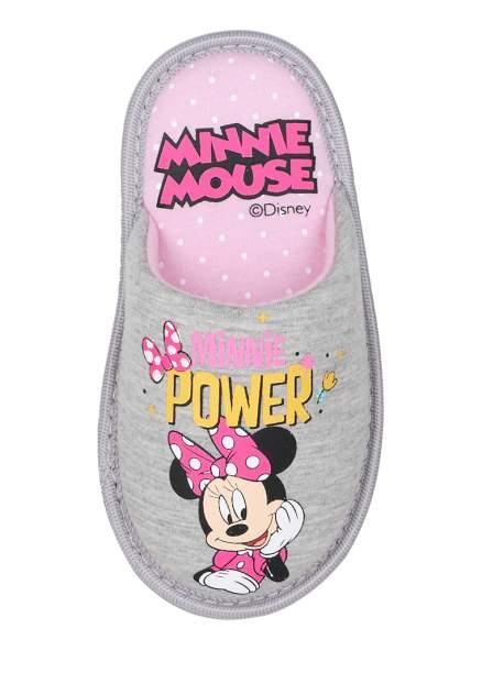 Тапочки детские Minnie Mouse, цв. серый р.26