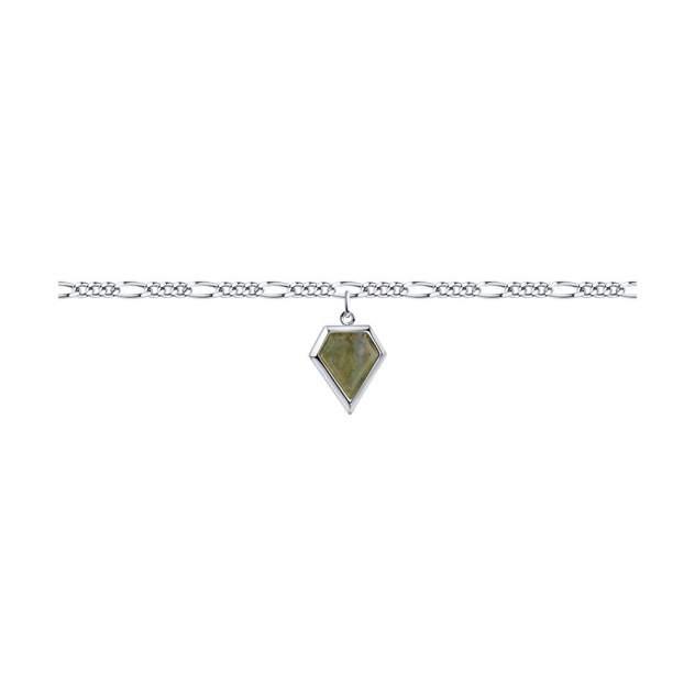 Браслет женский SOKOLOV 92050135 из серебра, лабрадор р.18