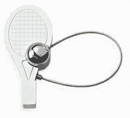 """Брелок """"Теннисная ракетка"""" Exetera Argenti 463"""