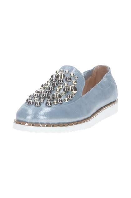 Лоферы женские Sandm 798-N24-2-9 голубые 40 RU