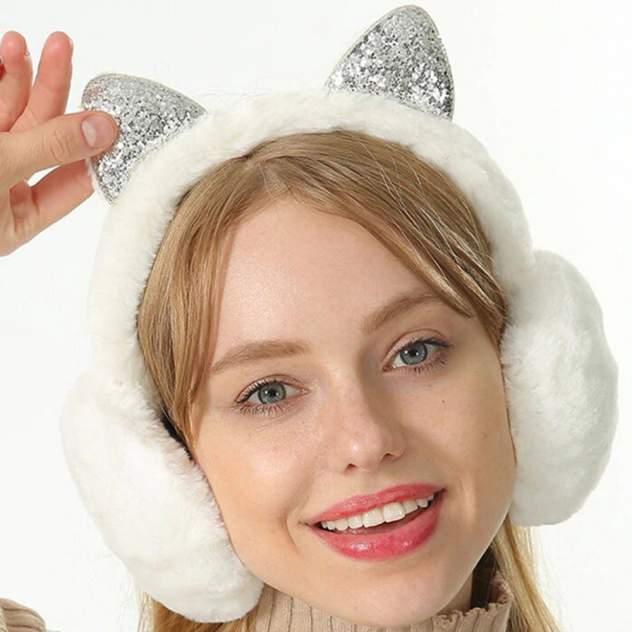 Наушники меховые Sparkis Cat белые