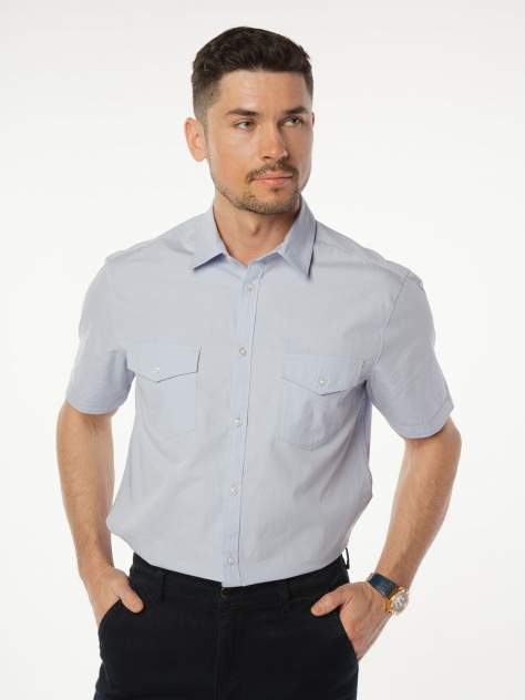 Рубашка мужская Velocity V48-02MS-06 голубая M