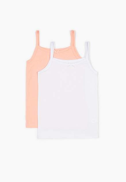 Комплект маек 2 шт. Modis, цв. белый; розовый р.104