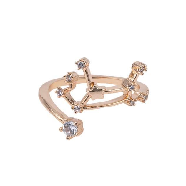 Кольцо бижутерное Созвездие Дева OTOKODESIGN 6-56376 золотистое