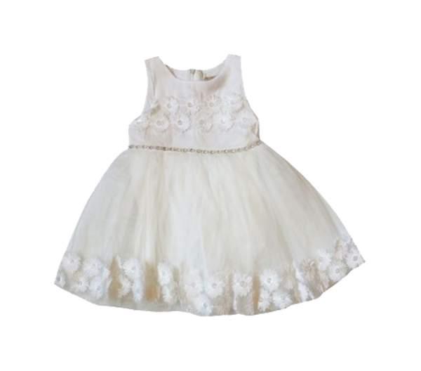 Платье нарядное для девочек WECAN цв. белый р.92
