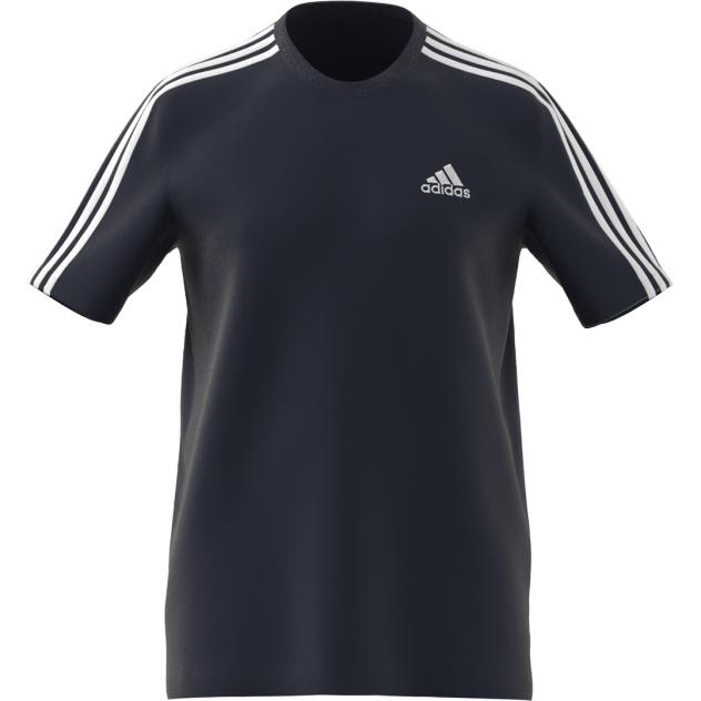 Футболка мужская Adidas Essentials 3-Stripes Tee синяя XL INT