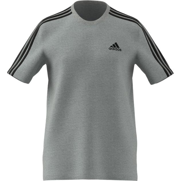Футболка Adidas Essentials 3-Stripes Tee, серый